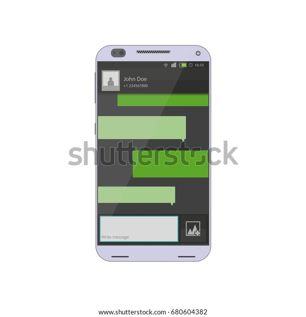 Smart Phone Chat Chatting Messaging Concept Stock Vector