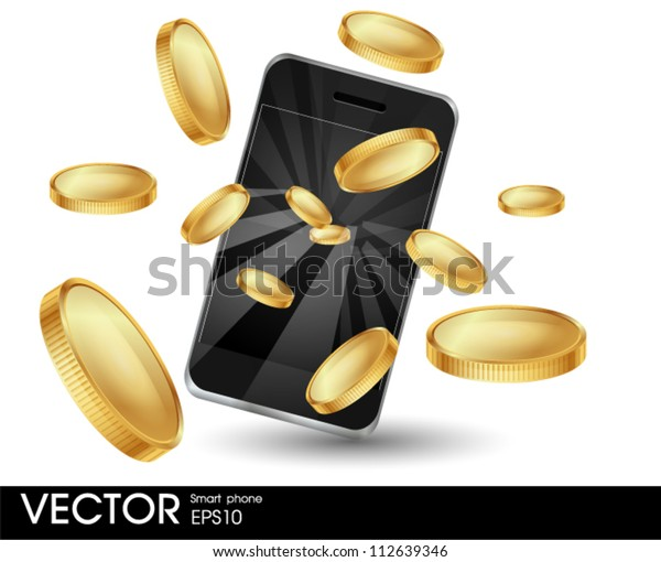 Smart phone with coins