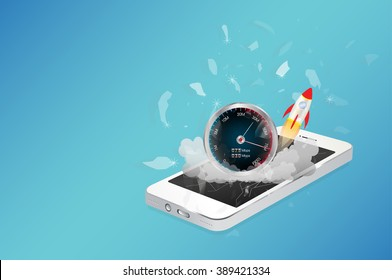 smart phone device with hi speed internet
