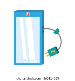 smart phone device technology mobile charger cable vector illustration eps 10