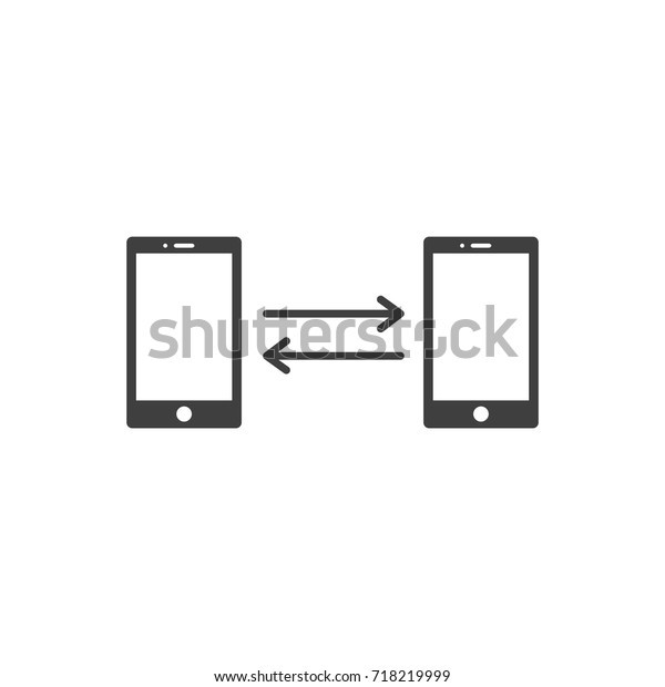Smart Phone File Transfer Vector Design Stock Vector
