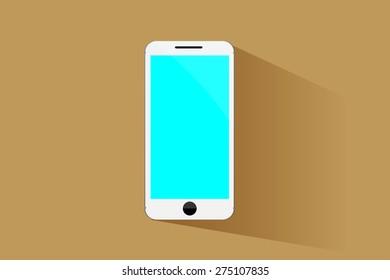 Smart phone flat design.