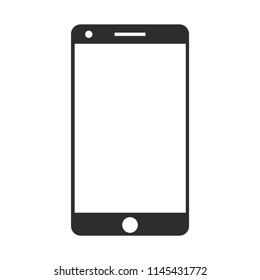 Smart phone flat icon isolated on white background
