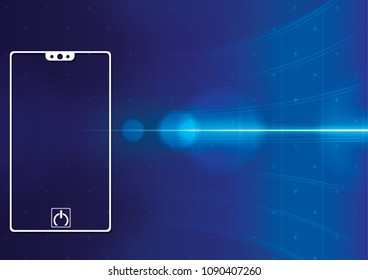 smart phone  hi technology interface