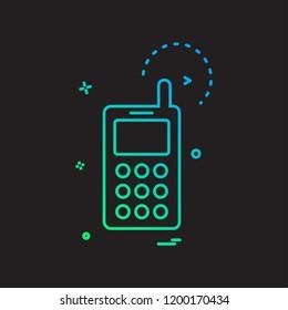 Smart phone icon design vector