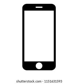smart phone icon on white background