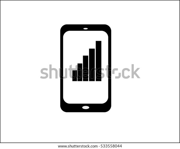 Smart phone icon vector background
