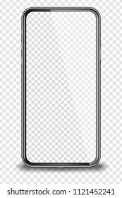 Smart phone isolated on transparent background. Vector illustration.