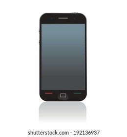 Smart phone, mobile phone isolated, realistic vector illustration.