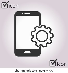Smart phone services icon.
