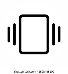 Smart phone in silent mode icon. Smartphone on vibration mode sign. Vector illustration.