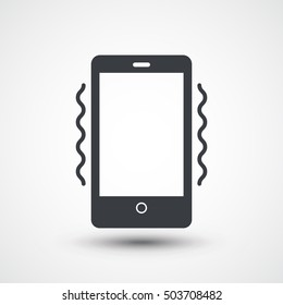 Smart phone in silent mode icon. Smartphone on vibration mode icon. Phone airplane