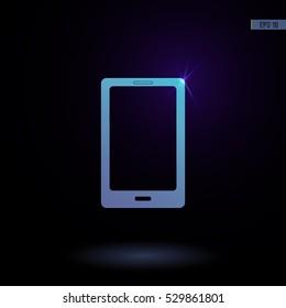 Smart phone vector icon. Graphic symbol for web design, logo.