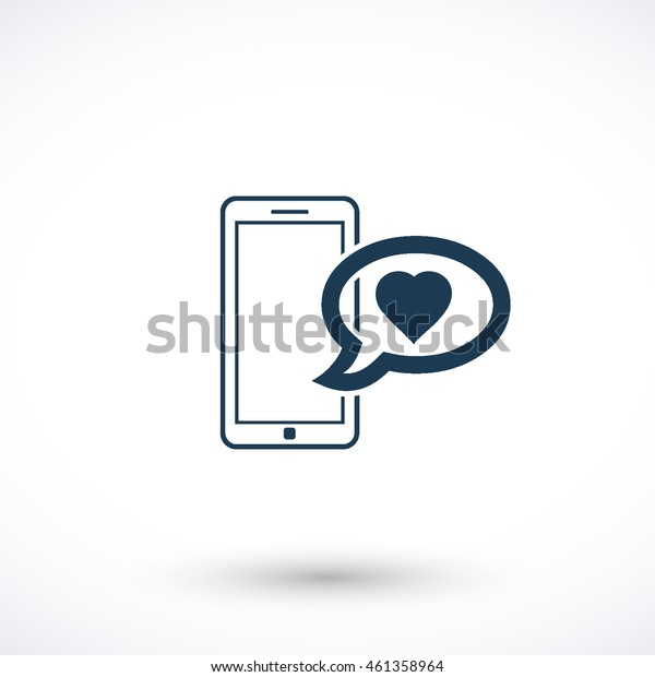 Smart phone vector icon. Graphic symbol for web design, logo. Isolated sign on a white background.