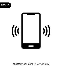 Smart phone vibrating or ringing flat vector illustration icon. Eps10