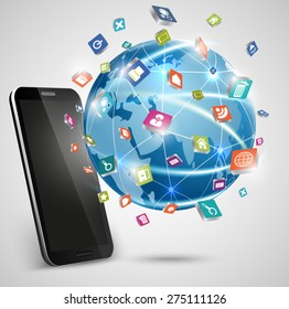 Smart Phones and Globe Connections Design