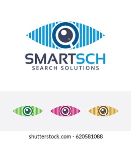 Smart Search, Vector logo template