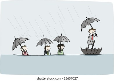 Smart solution to transport in a flood