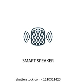 smart speaker concept line icon. Simple element illustration. smart speaker concept outline symbol design from Smart home set. Can be used for web and mobile UI/UX
