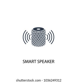 smart speaker icon. Simple element illustration. smart speaker symbol design from Smart home collection. Can be used for web and mobile.