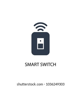 Smart switch icon. Simple element illustration. Smart switch symbol design from Smart home collection. Can be used for web and mobile.