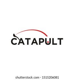 Smart Unique Clever Catapult Typography Logo design