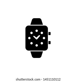 Smart Watch, Digital Clock. Flat Vector Icon illustration. Simple black symbol on white background. Smart Watch, Digital Clock sign design template for web and mobile UI element
