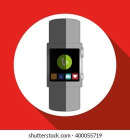 smart watch icon design, vector illustration