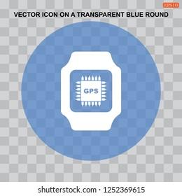 smart watch Icon flat design style