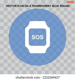 smart watch Icon vector  flat design style