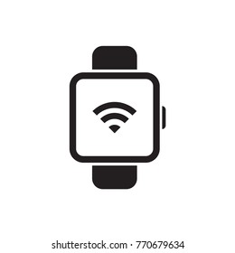 Smart watch isolate white background. Vector.