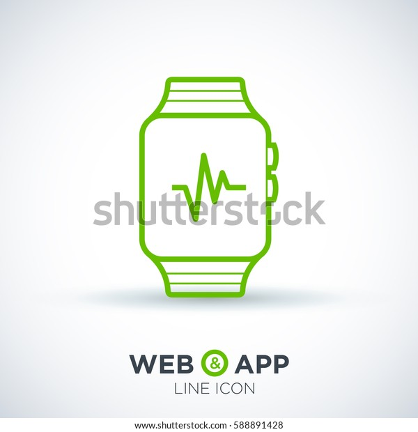 smart watch isolated minimal icon. multifunctional watch graph line vector icon for websites and mobile minimalistic flat design.