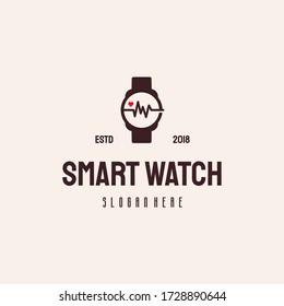 Smart Watch logo hipster retro vintage vector template
