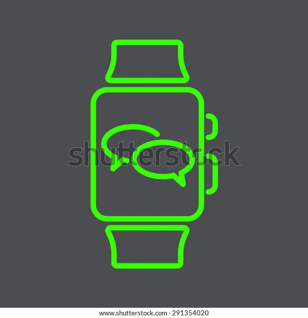 Smart Watch. Smartwatch. Watch Phone Icons talking