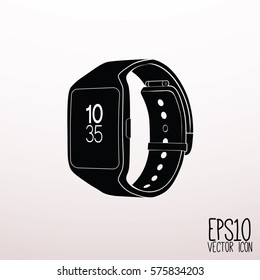 Smart watch vector icon. Flat style for graphic and web design, Modern simple vector sign. Internet concept. Trendy symbol for website design web button, mobile app.