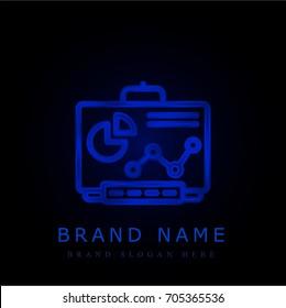 Smartboard blue chromium metallic logo