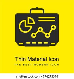 Smartboard bright yellow material minimal icon or logo design