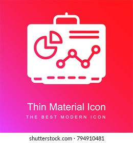 Smartboard red and pink gradient material white icon minimal design