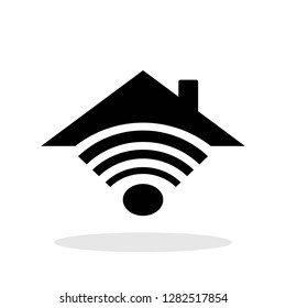 Smarthome icon in flat style. House automation symbol for your web site design, logo, app, UI Vector EPS 10.