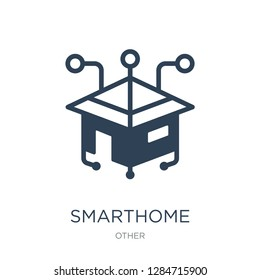 smarthome icon vector on white background, smarthome trendy filled icons from Other collection, smarthome vector illustration
