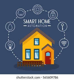 smarthome technology isolated icon