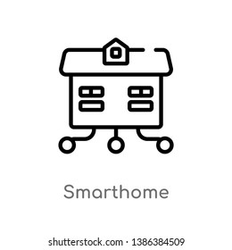 smarthome vector line icon. Simple element illustration. smarthome outline icon from other concept. Can be used for web and mobile