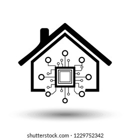 Smarthome/Smarthouse icon in trendy flat style. Vector Illustration EPS 10.