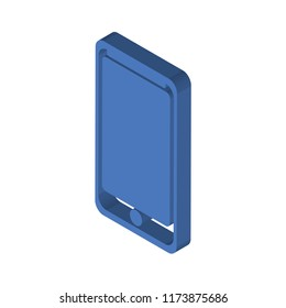 Smarthphone isometric left top view 3D icon