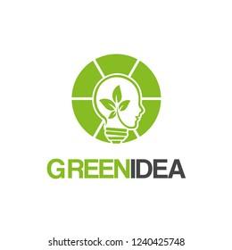 Smart/People/Green Idea Logo Design Inspiration