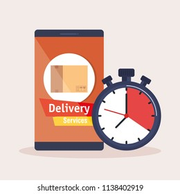 smartphone with app delivery service