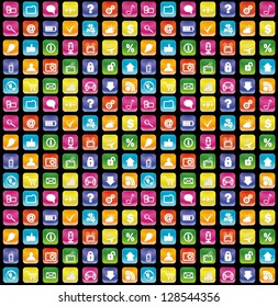 smartphone app icons seamless background