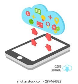 Smartphone application vector icon illustration