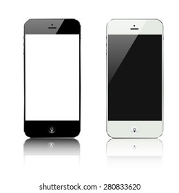 smartphone black and white with lamp idea button vector design