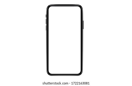 smartphone with a blank screen lying on a flat surface. High Resolution Vector of responsive web design ,app, template site.